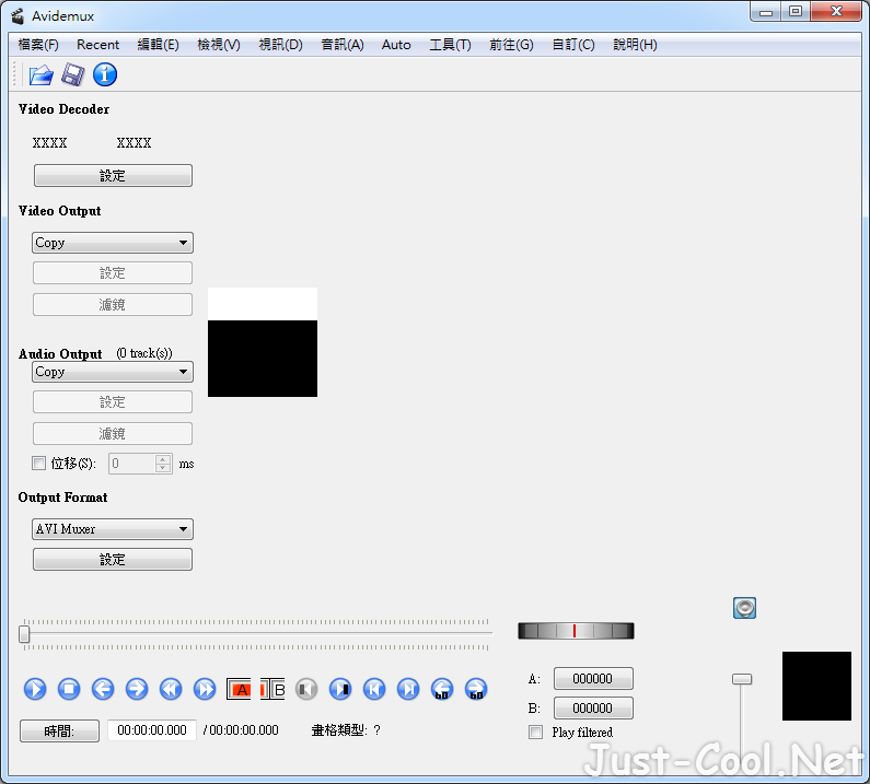 Avidemux 2.7.0 免安裝中文版 – 跨平台影片編輯工具