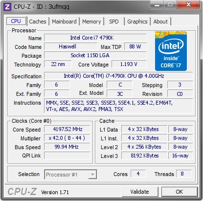 CPU-Z 1.88.0 免安裝中文版 – 電腦 CPU 資訊偵測、硬體資訊查詢