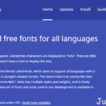 Google Noto Fonts 免費開源字型,支援 800 種語言免費開源字型下載
