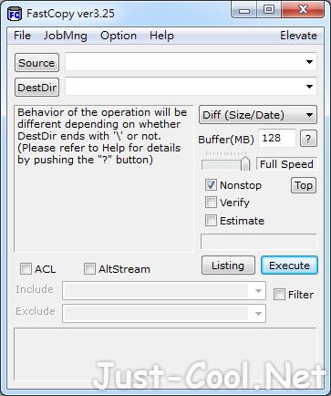 Fastcopy 3.63 免安裝中文版 – Windows 系統最快的檔案複製工具