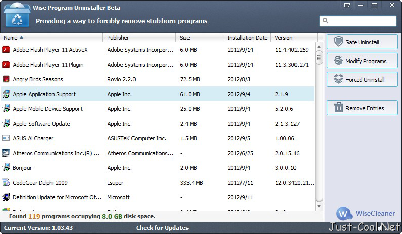 Wise Program Uninstaller 2.3.9.143 免安裝中文版 – 軟體程式強制移除工具