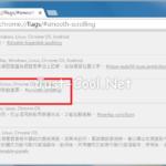 關閉 Google Chrome 瀏覽器 平滑捲動功能