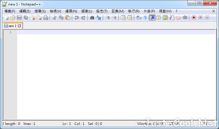 Notepad++ 7.9.5 免安裝中文版 – 免費代碼編輯器取代系統內建記事本